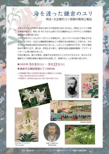 海を渡った鎌倉のユリ展覧会チラシ